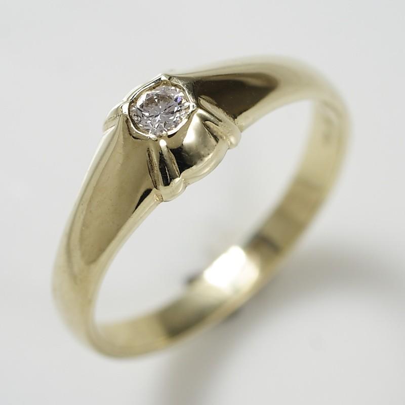 2dbea5aa7ce Zlatý prsten briliant 750