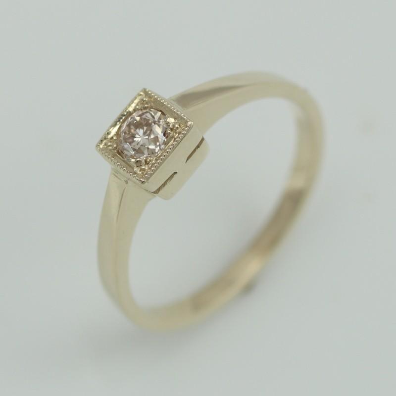 4b6d8332dc1 Zlatý prsten briliant 497